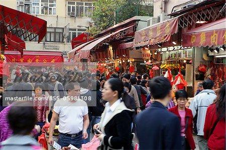 Markt in Causeway Bay, Hong Kong