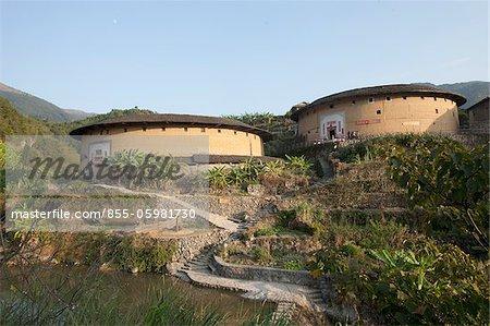 Hakka Tolou au village de Chuxi, Yongding, Fujian, Chine