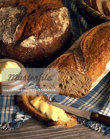 Land Brot mit butter