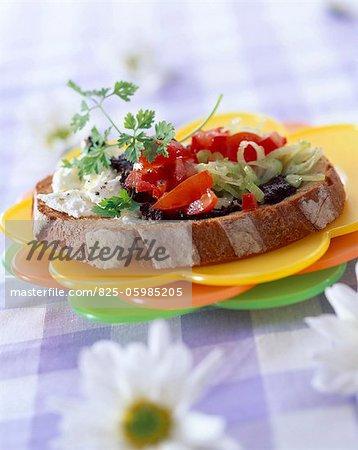 sandwichs fromage et salade