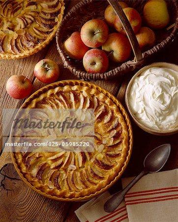 tartes aux pommes sucrées
