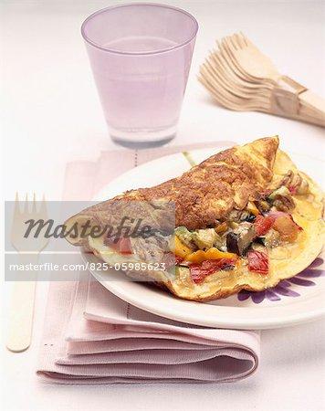 Omelette de légume grillé