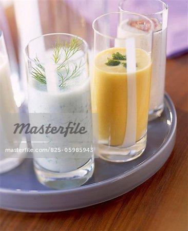 sélection de cocktails à base de lait