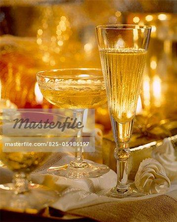 Brille, Champagner