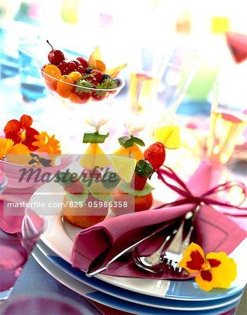 décoré de fruits
