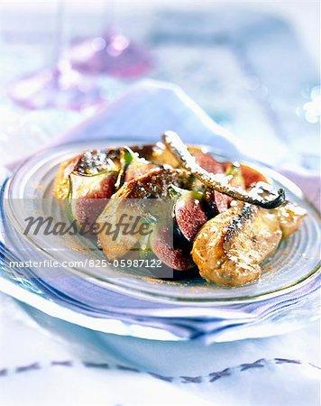 Foie gras poêlé aux figues fraîches et vanille