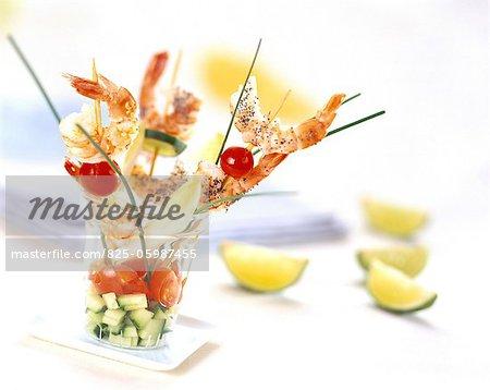 cocktail de crevettes