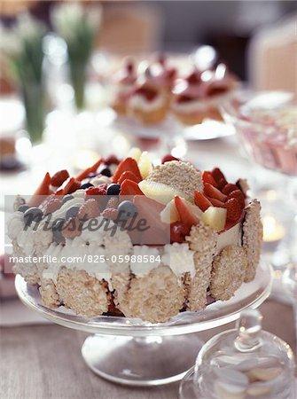 Sorbet Vacherin dessert
