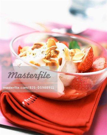 Melba strawberry dessert