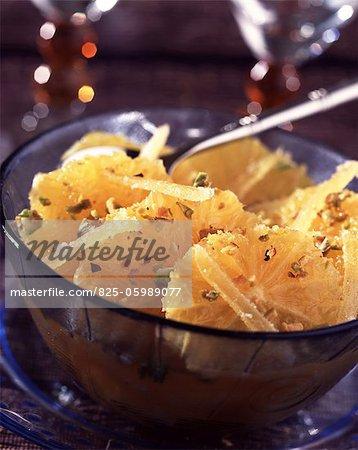 Salade d'orange et pistache
