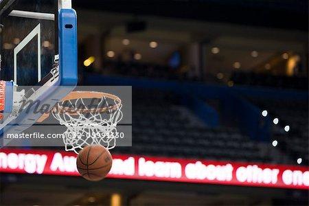 Basket en hoop, flou de mouvement