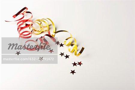 Confetti and gift-wrap ribbon
