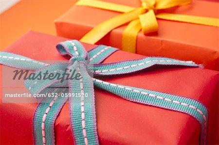 Cadeaux richement enveloppé