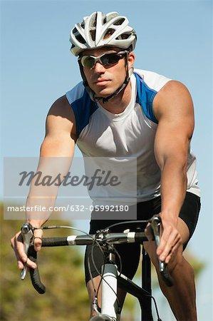 Vélo homme, portrait