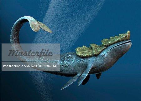 Leviathan sea monster, computer artwork.
