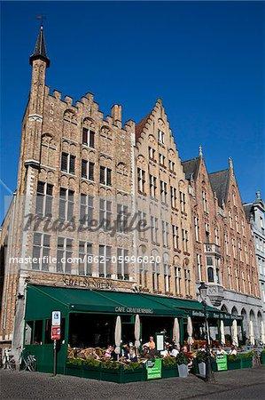 Markt Square, the main square of Brugge, Flanders, Belgium