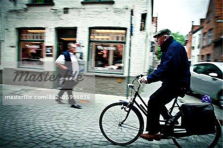 Bicycle in Bruges, Flanders, Belgium