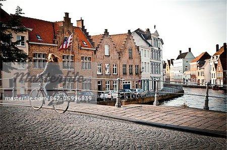 Downtown of Bruge, Flanders, Belgium