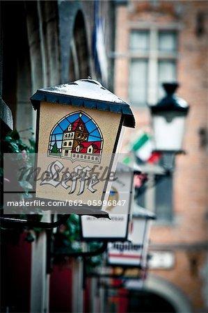 Bar detail in Bruges, Flanders, Belgium
