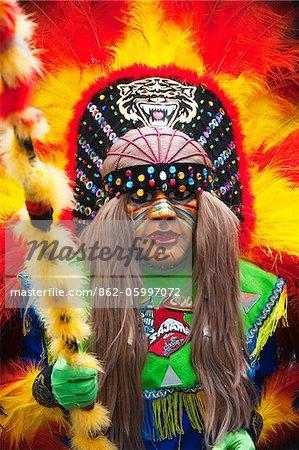 South America, Bolivia, Oruro, Oruro Carnival, Man in costume