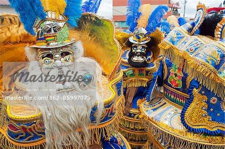 South America, Bolivia, Oruro, Oruro Carnival, Men in costume