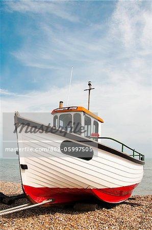 Pêche bateau, dormeur, Kent, UK