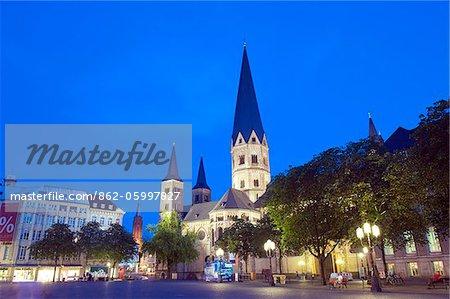 Europe, Germany, Westphalia, North Rhineland, Bonn, Bonn Minster Papal basilica