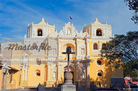 L'Amérique centrale, Guatemala, Antigua, église de La Merced