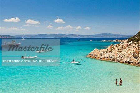 Italie, Sardaigne, Olbia-Tempo, archipel de La Maddalena, île de Spargi.