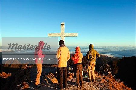 Sommet du Volcan Baru, (3478m), point culminant du Panama, Parc National du Volcan Baru, Chiriqui province, Panama, Amérique centrale