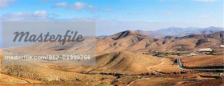 Le paysage volcanique de Fuerteventura, îles Canaries