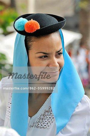 Girl from San Cristobal Traditional Folk Group. Las Palmas de Gran Canaria, Canary islands