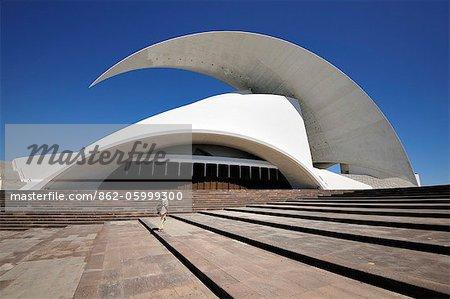 Auditorium and concert hall (Auditorio de Tenerife by architect Santiago Calatrava). Santa Cruz de Tenerife, Canary islands