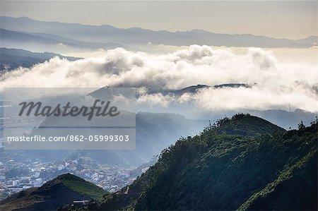 Anagagebirges ländlichen Park. Teneriffa, Kanarische Inseln