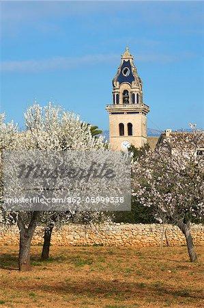 Kirche in der Nähe von Santa Maria del Cami, Cala S'Amonia, Mallorca, Balearen, Spanien
