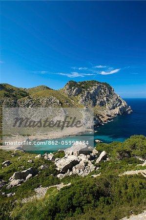 Cala Figuera in der Nähe von Cap Formentor, Mallorca, Balearen, Spanien