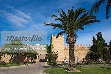 Stadttor in Alcudia, Mallorca, Balearen, Spanien