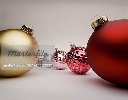 Rot und gold Weihnachtsschmuck, Studioaufnahme