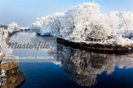 River shannon in winter, munster, limerick, ireland