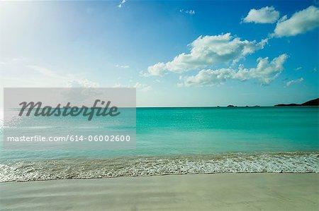 Tranquil scene of beach and sea, Antigua