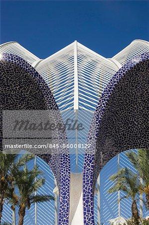L'Umbracle, The City of Arts and Sciences, Valencia, Spain. Architects: Santiago Calatrava