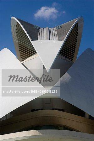 Palau de Les Arts Reina Sofía, die Stadt der Künste und Wissenschaften, Valencia. Architekten: Santiago Calatrava