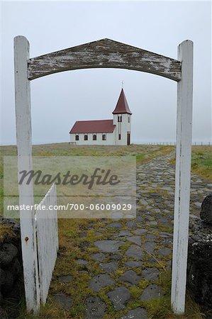 En bois Eglise, Hellnar, péninsule de Snaefellsnes, Islande