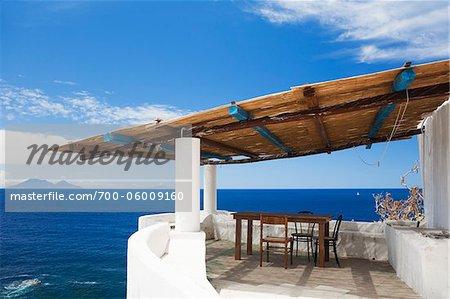 Maison Patio, Ginostra, Stromboli Island, Iles Eoliennes, Province de Messine, Sicile, Italie