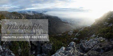 Camps Bay vue de Table Mountain, Cape Town, Western Cape, Cape Province, Afrique du Sud