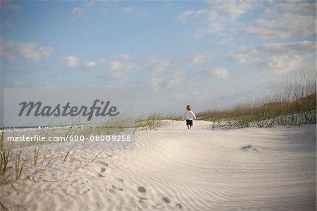 Boy at the Beach, St. Augustine Beach, St. Johns County, Florida, USA