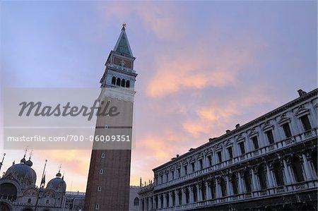 St Mark's Square at Dawn, Venice, Veneto, Italy