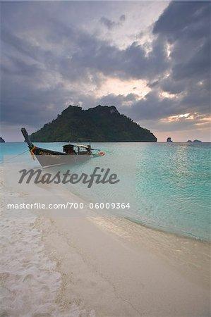 Koh Mor et Tup Island, mer d'Andaman, à proximité de Krabi, Thaïlande