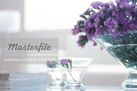 Fleurs pourpres en verrines