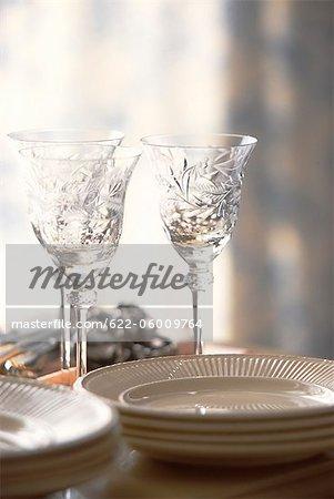 Vider les assiettes et les verres à boire